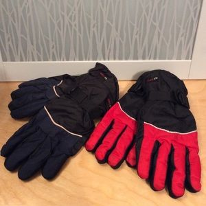 NWOT 2-Pair of Winter Gloves with Leather Palm